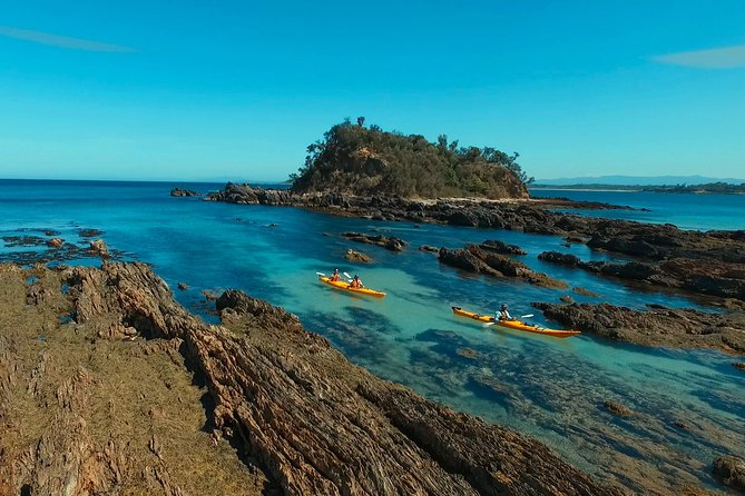 Half Day Sea Kayak Tour from Batemans Bay with Morning Tea and Snorkeling