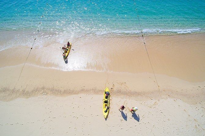 Private Glass bottom Kayak and snorkel at two Bays