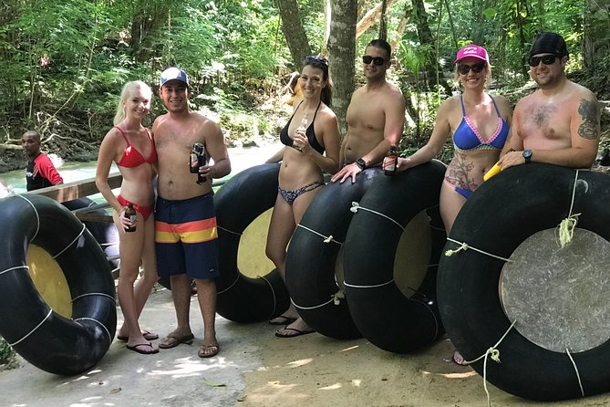 Private calypso river tubing + blue hole waterfalls tour from Ocho Rios