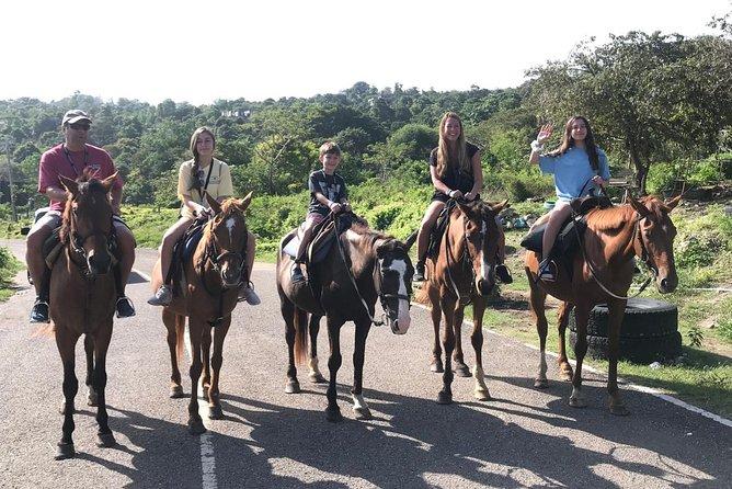 Blue hole waterfalls + horseback riding combo tour from Ocho Rios