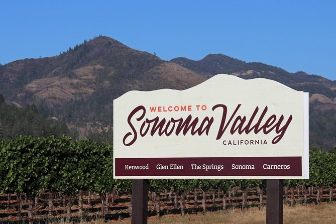 6-Hours Customized Private SONOMA Valley Wine Tour From San Francisco Bay Area