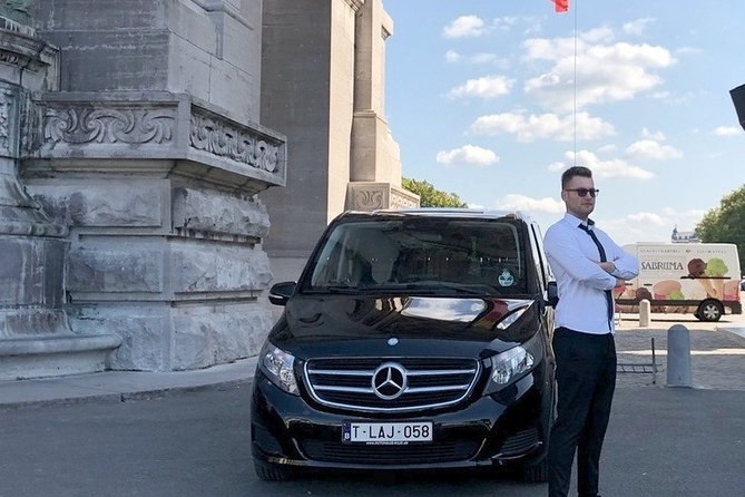 Transfer from Brussels city to BRU Airport with luxury Mercedes e class