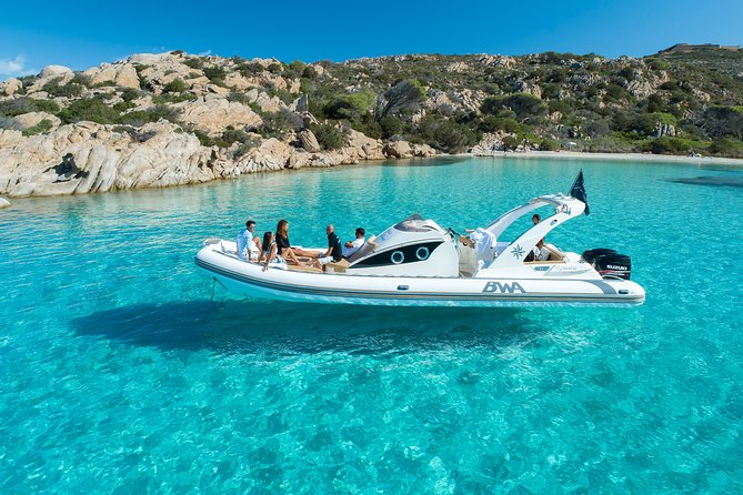 private tour la maddalena archipelago inflatable boat rental with skipper included