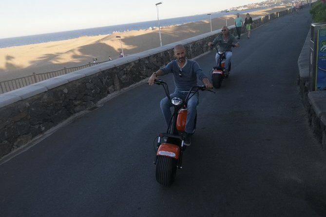 Sunset Guided Tour by E-Scooter Chopper 2 seat : Maspalomas & Meloneras 3 Hours