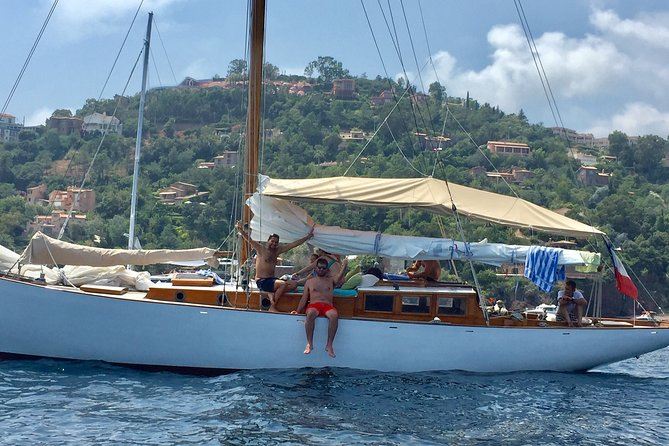 Classic Yacht Sailing in the Bay of Cannes