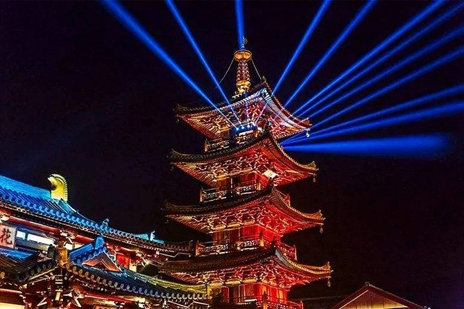 Private Night Tour of Nianhua Bay with Light Show and Dinner from Wuxi