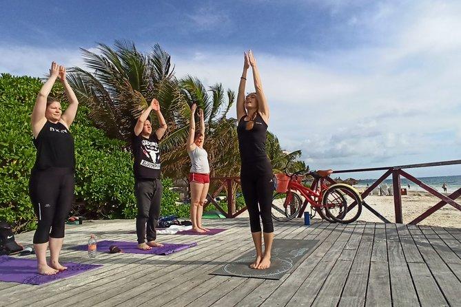 ✋Puerto Morelos Caribbean Breeze Yoga on the beach in Puerto Morelos