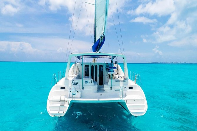 Isla Mujeres Tour on Catamaran with Snorkel, Open Bar, Buffet & Beach club