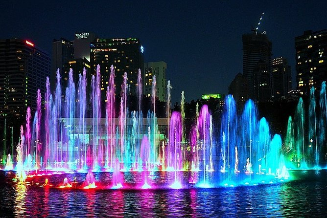 KL Evening Tour with Symphony Fountain Show & KL Tower Night Observation Ticket