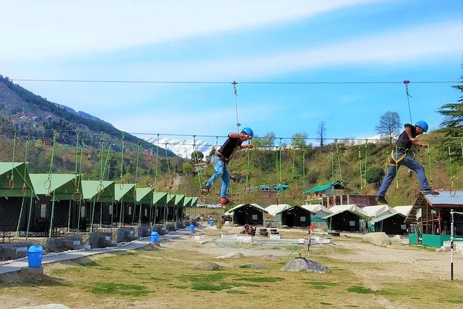 Rock climbing, Rappelling and Rope Adventure Combo in Manali