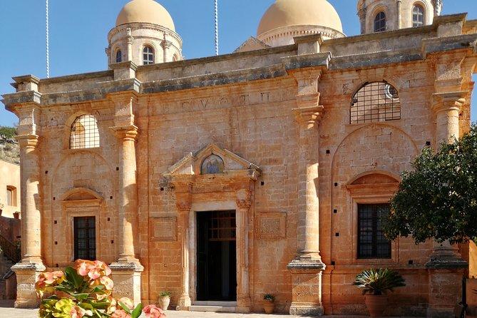 PRIVATE TOUR from Chania to Seitan limania, Agia Triada and Stavros beach.