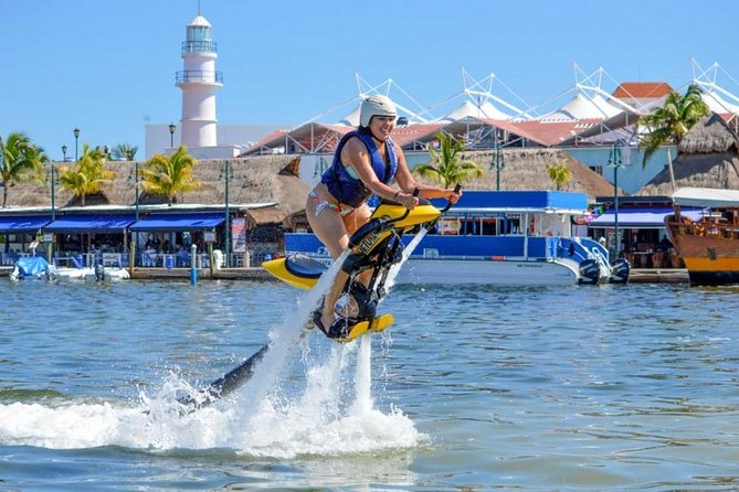 FLY above Cancun Lagoon on a JETOVATOR. Includes Training, Equipment, Instructor