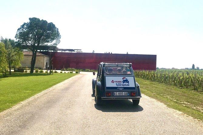 Saint-Emilion half-day Wine Tour in a Citroën 2CV from Bordeaux