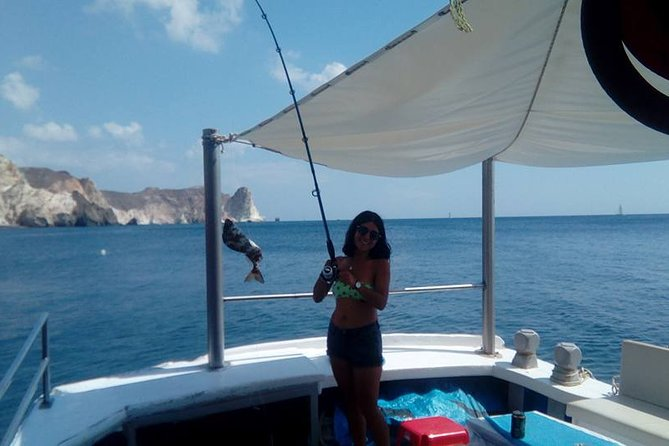 santorini private morning fishing trip last minute