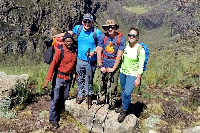 Mt. Kenya trekking 4 nights 5 days Sirimon route