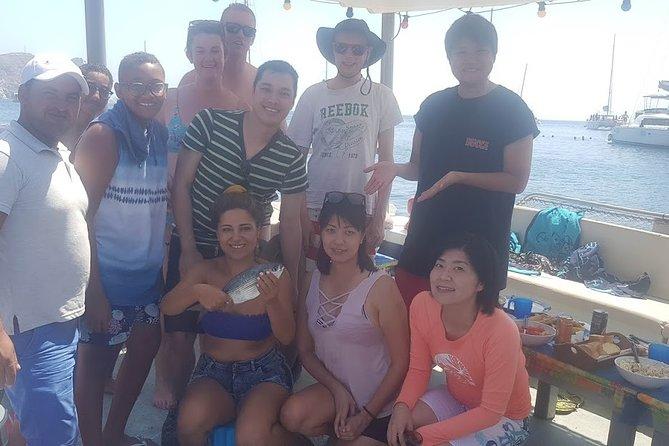 santorini Big Game fishing tour private all inclusive sunrise or sunset