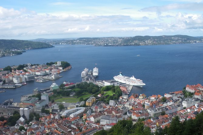 Bergen: Excursion with a city view from the top