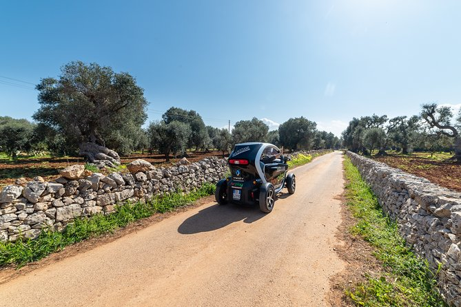 Tour of the Itria Valley by Twizy with olive oil tasting