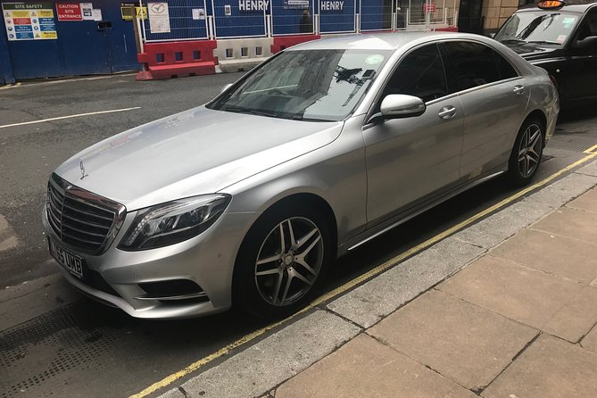 Private transfer from Heathrow to central London on executive E class Mercedes