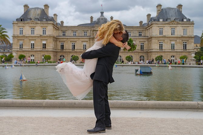 Paris Luxembourg Garden Wedding Vows Renewal Ceremony with Photo Shoot
