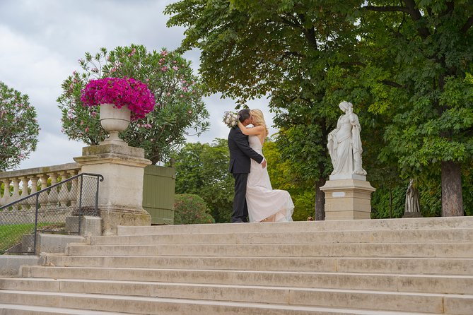 Paris Luxembourg Garden Wedding Vows Renewal Ceremony With Photo