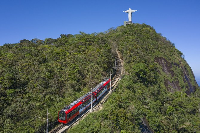 Half Day in Rio Christ by Train, Maracanã, Sambadrome, Cathedral & Selarón Steps