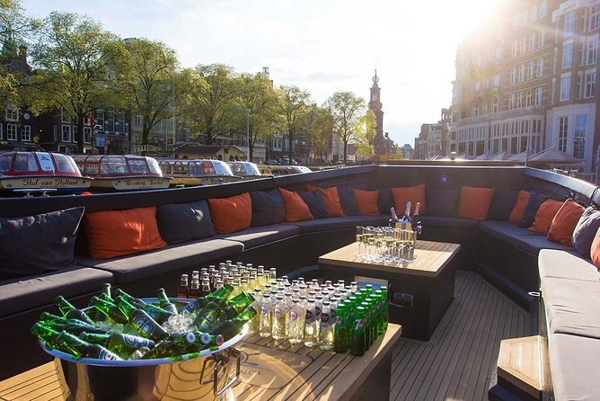 Amsterdam; Private BBQ Cruise inclusive drinks for 2 hours