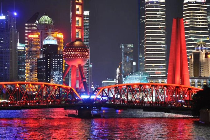 Night Tour of Huangpu River Cruise and Shanghai Expo Park with Pickup