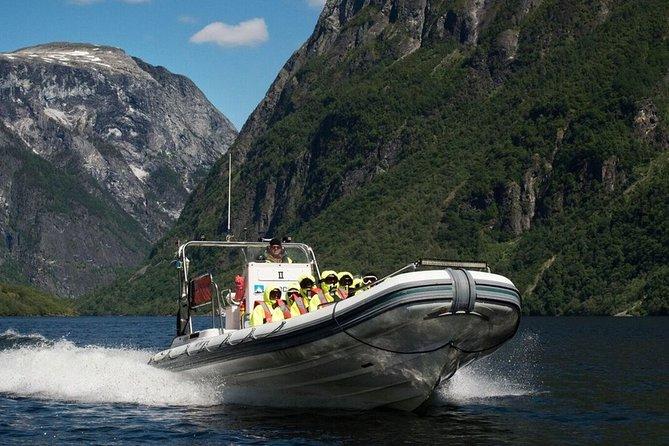 Private day tour to Flåm - Rallarvegen biking, RIB Fjord Safari and Flåm Railway