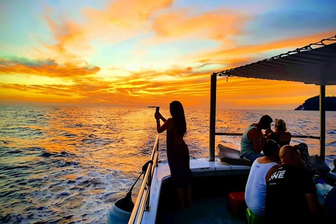 santorini sunset fullmoon fishing tour private with dinner and drinks