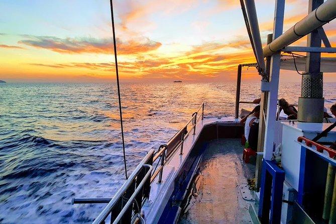 santorini sunset fishing tour small group with dinner drinks & transportation