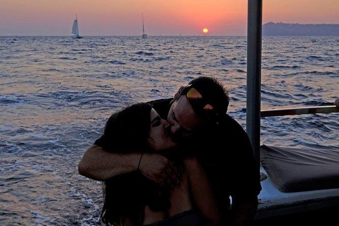 santorini private sunset fishing tour for couples dinner drinks transportation