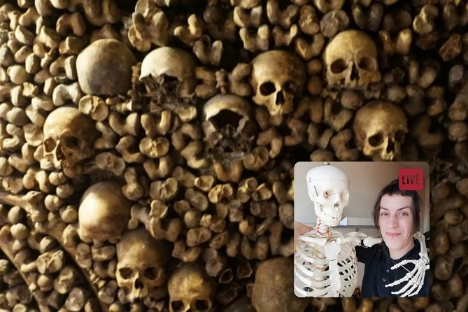 One Hour Virtual Tour in Paris Catacombs with Expert Guide (Times in EST)