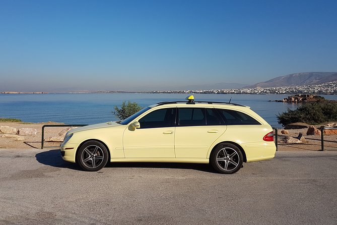Athina City to Lavrio Marina with Mercedes E Class Wagon