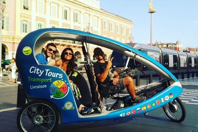 Nice Sightseeing Pedicab & Multilingual Private Tour with a Local Guide - 1h10