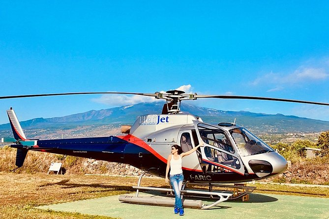 Etna helicopter tour, with volcanologist guide