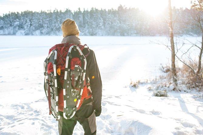 Snowshoe hike in swedish wilderness