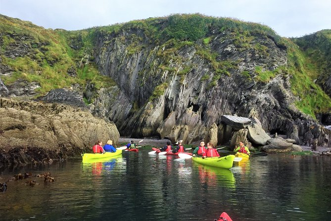 Coastal kayaking to caves and islands. West Cork. Guided. 4 hours.