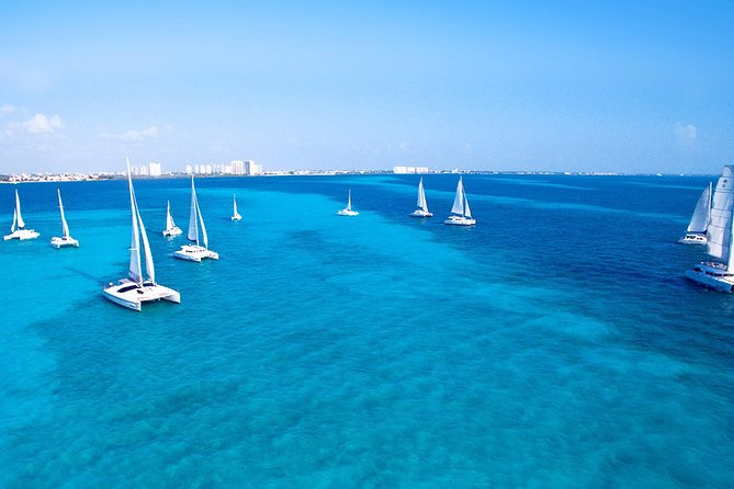 Isla Mujeres Catamaran Tour includes Snorkeling, Open bar and Buffet