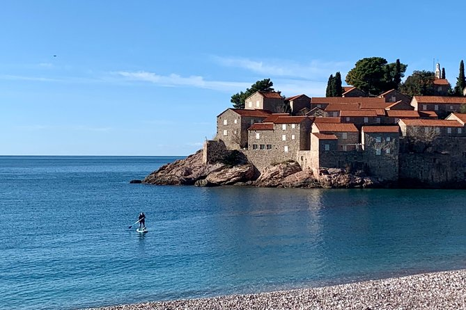 Private Standup Paddle Experience to Sveti Stefan Island