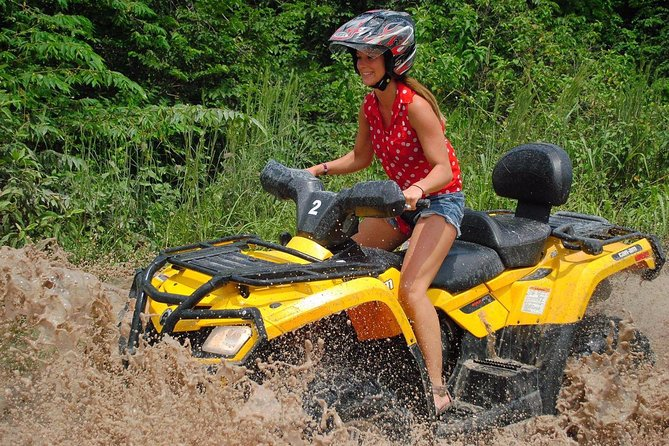 Jungle adventure atv, ziplines and cenote swim tour