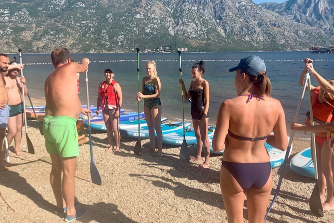 Private Kotor Bay SUP Experience with Oyster and Wine Tasting