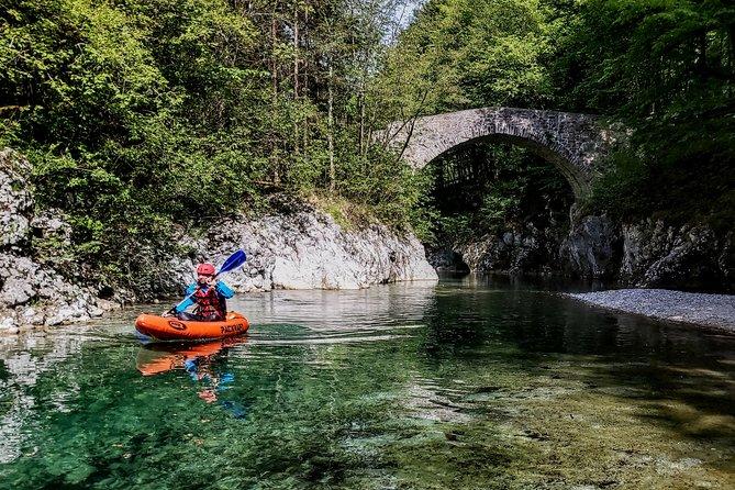 PACK-RAFT trip down the rapids of Soča river