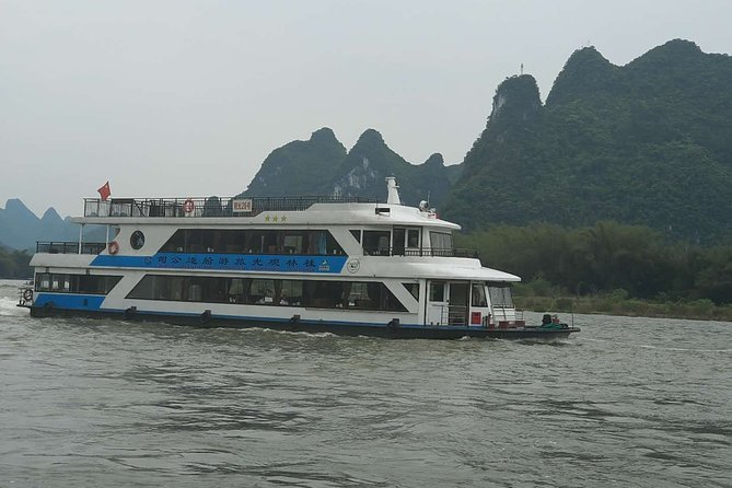 3-Star Li-River Cruise boat ticket and River Wharf Transfer from Guilin hotel
