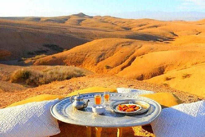Luxury Private Day Trip To Agafay Desert & Atlas Mountains and Camel Ride