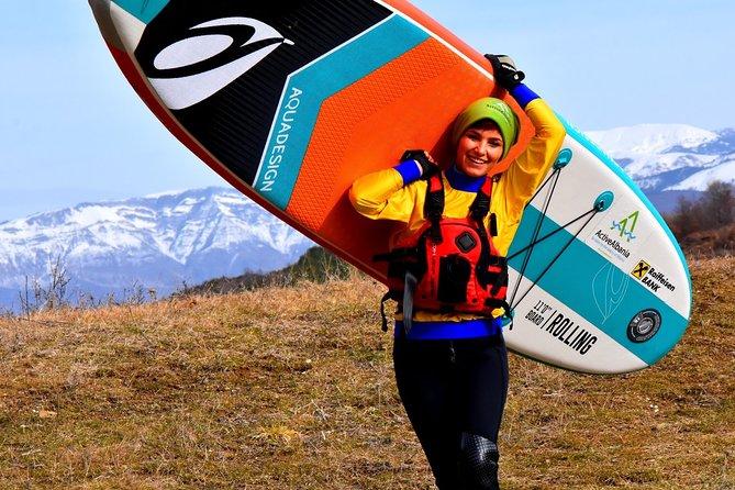 Kayaking Albania Adventure Tours ,Stand Up Paddle in Tomor Mount Lake, Berat