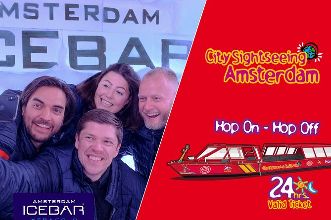 Amsterdam Combo: XtraCold Icebar & City Sightseeing Hop-On Hop-Off Boat