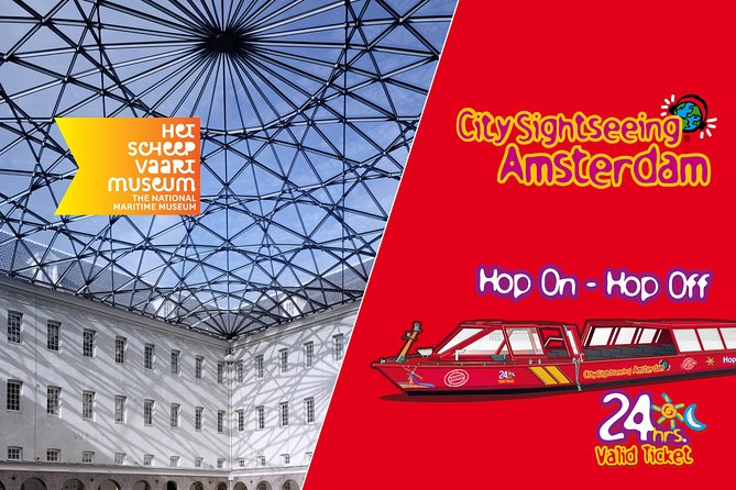 National Maritime Museum & City Sightseeing Amsterdam Hop-On Hop-Off Boat