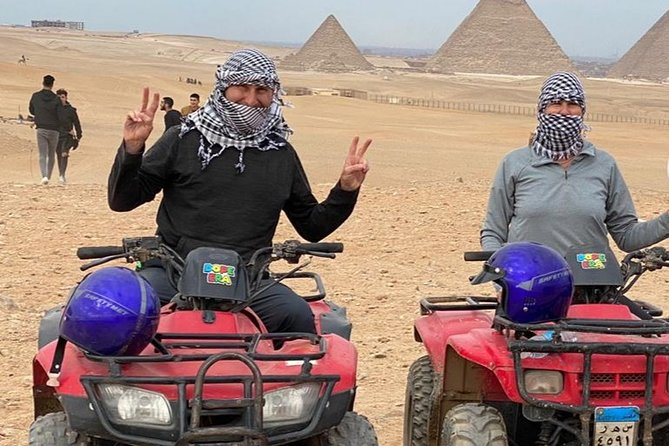 Desert Safari by Quad Bike Around Pyramids enjoying Sunset or Sunrise