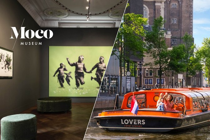 Amsterdam Combo: Moco Museum & 1-Hour Canal Cruise